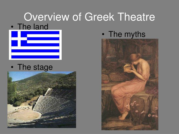 overview of greek theatre n.