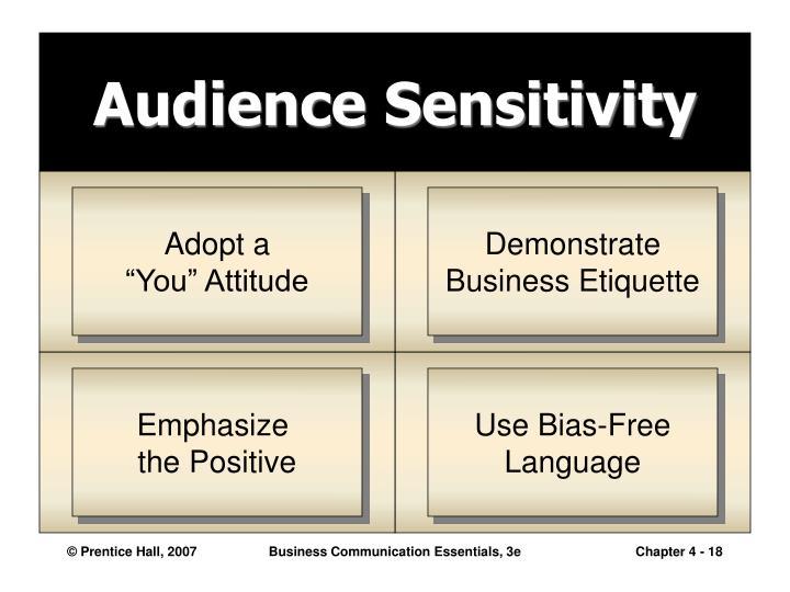 Audience Sensitivity
