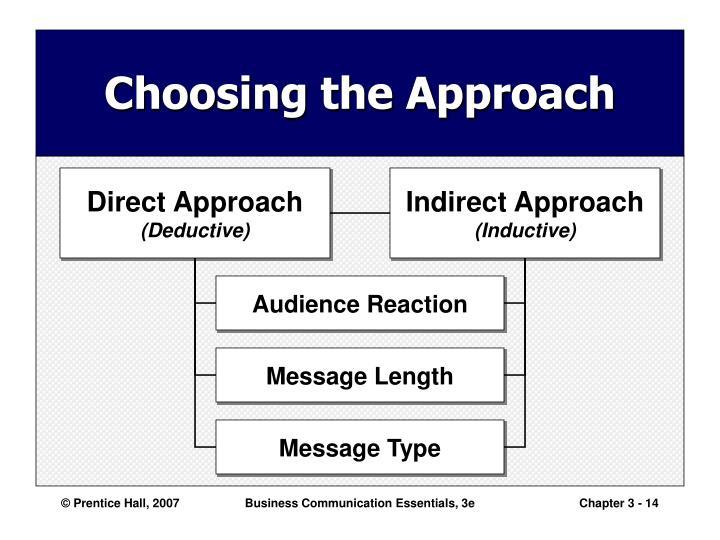 Choosing the Approach