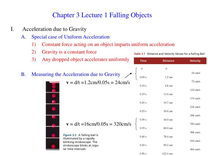 chapter 3 lecture 1 falling objects n.