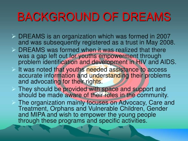 Background of dreams