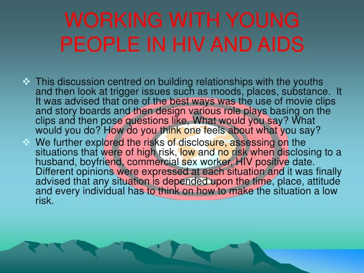 WORKING WITH YOUNG PEOPLE IN HIV AND AIDS