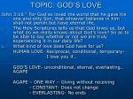 topic god s love