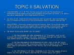topic ii salvation