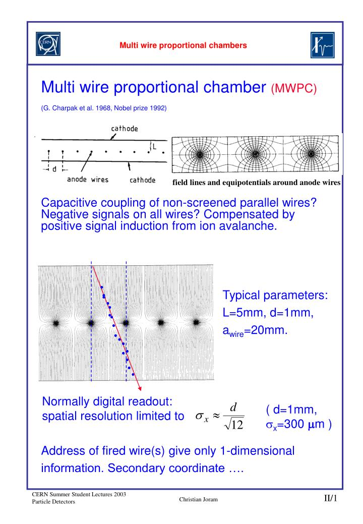multi wire proportional chambers n.