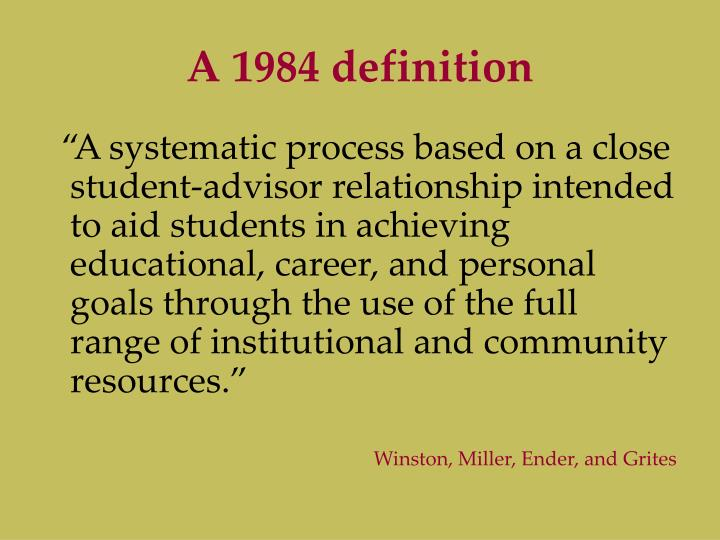 A 1984 definition