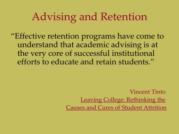 Advising and Retention