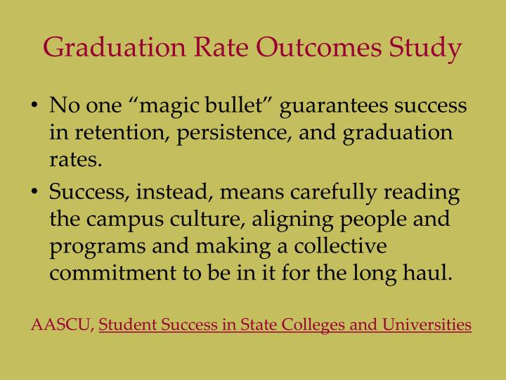 Graduation Rate Outcomes Study