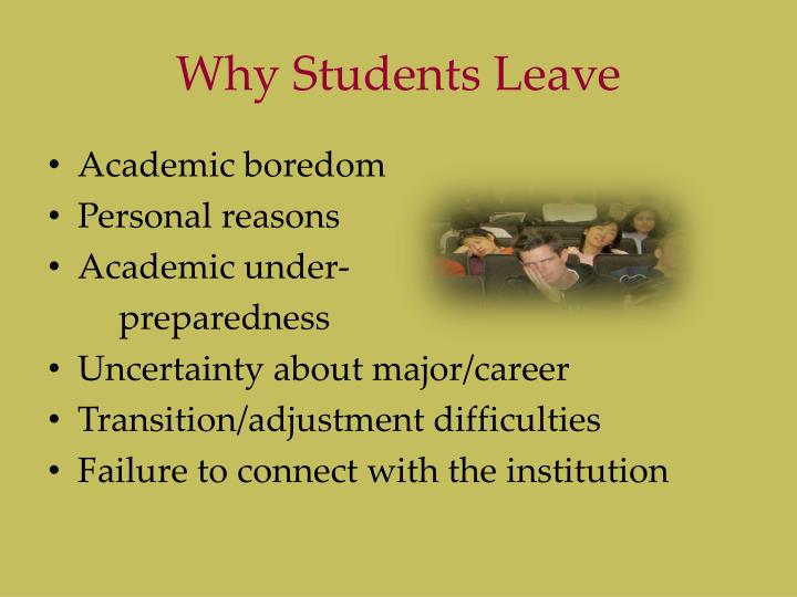 Why Students Leave