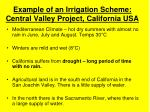 example of an irrigation scheme central valley project california usa