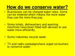 how do we conserve water