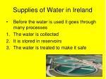supplies of water in ireland