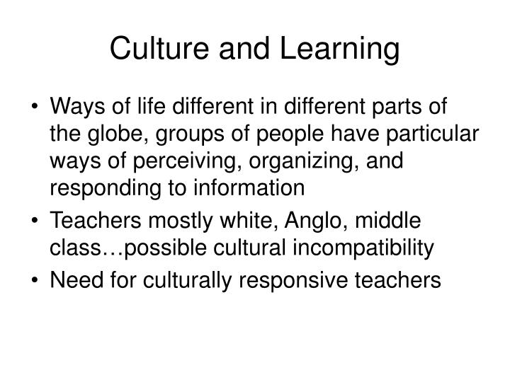 Culture and Learning