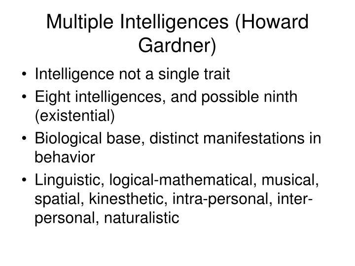 Multiple Intelligences (Howard Gardner)
