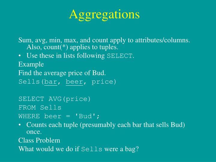 Aggregations