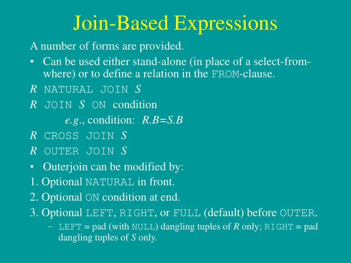 Join-Based Expressions