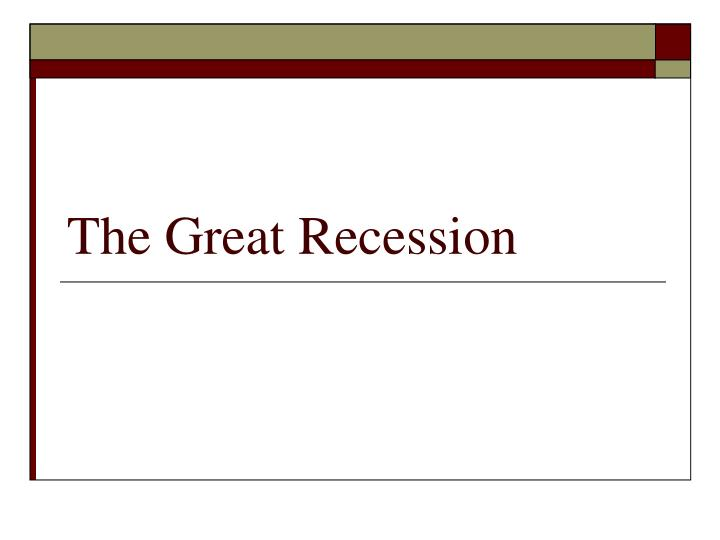 the great recession n.