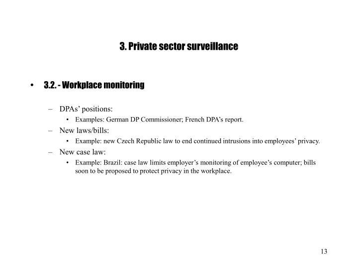 3. Private sector surveillance