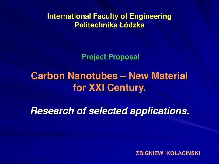 international faculty of engineering politechnika dzka