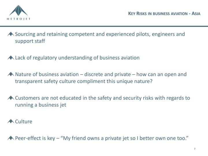 Key Risks in business aviation - Asia