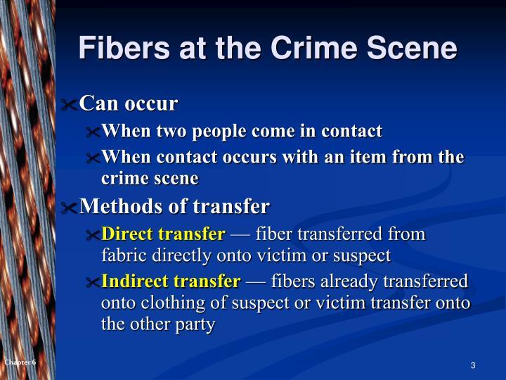 Fibers at the Crime Scene