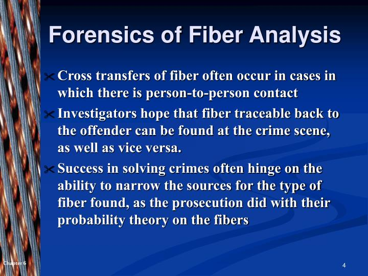 Forensics of Fiber Analysis