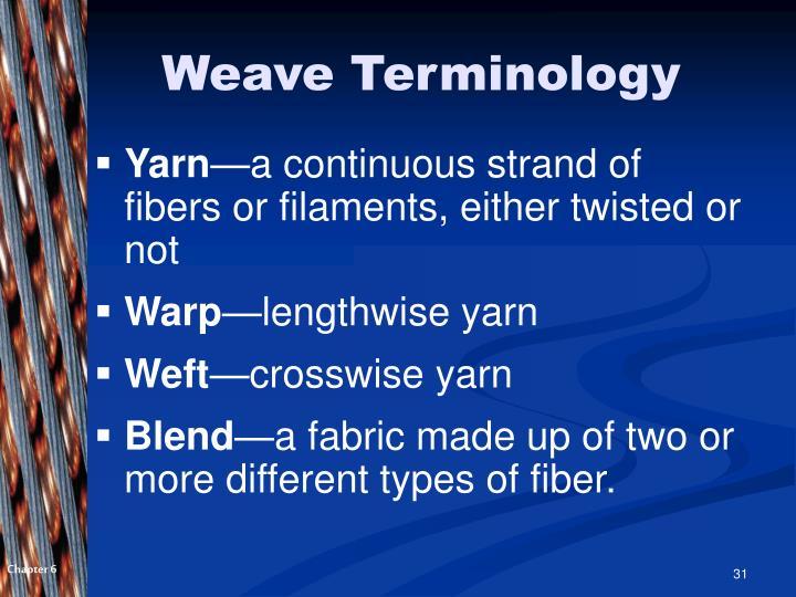 Weave Terminology