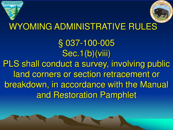 WYOMING ADMINISTRATIVE RULES