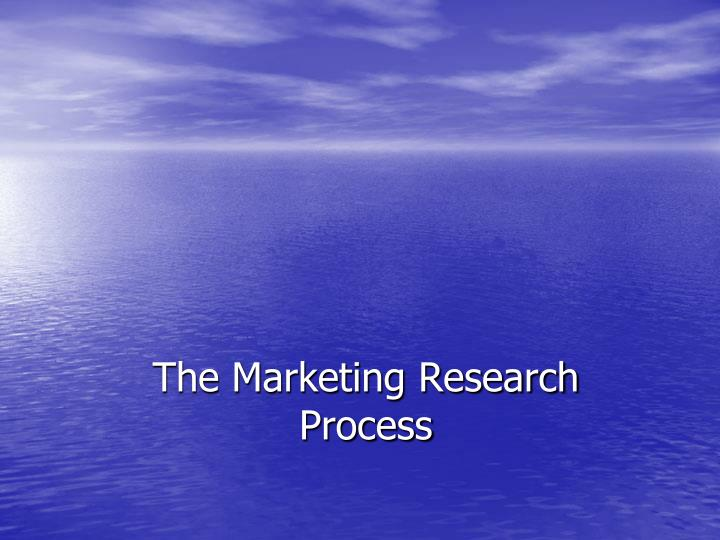the marketing research process n.