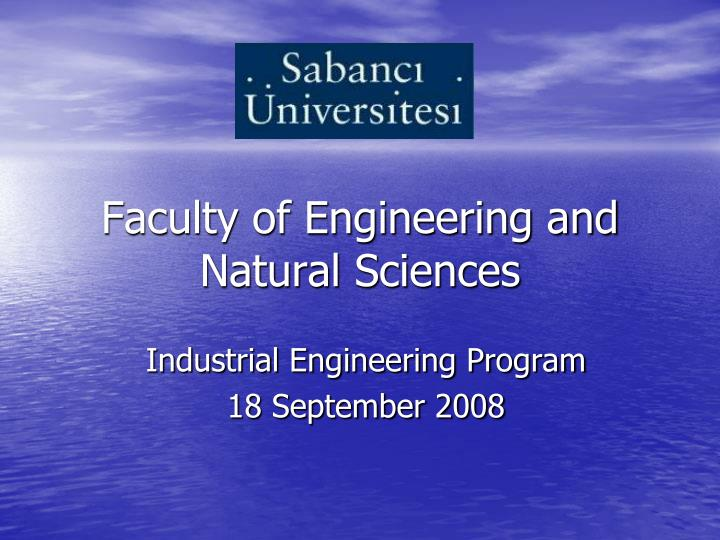 faculty of engineering and natural sciences n.