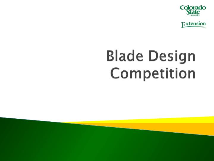 blade design competition n.