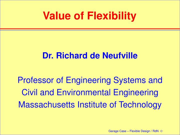 value of flexibility n.