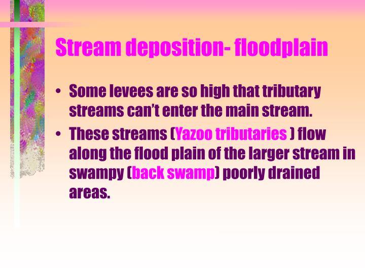 Stream deposition- floodplain