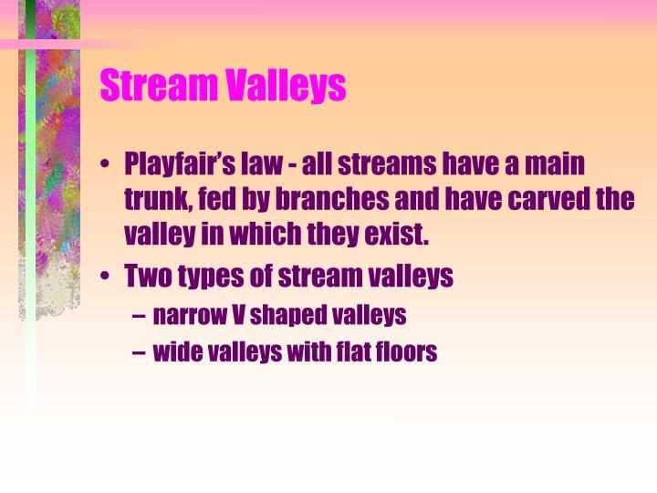 Stream Valleys