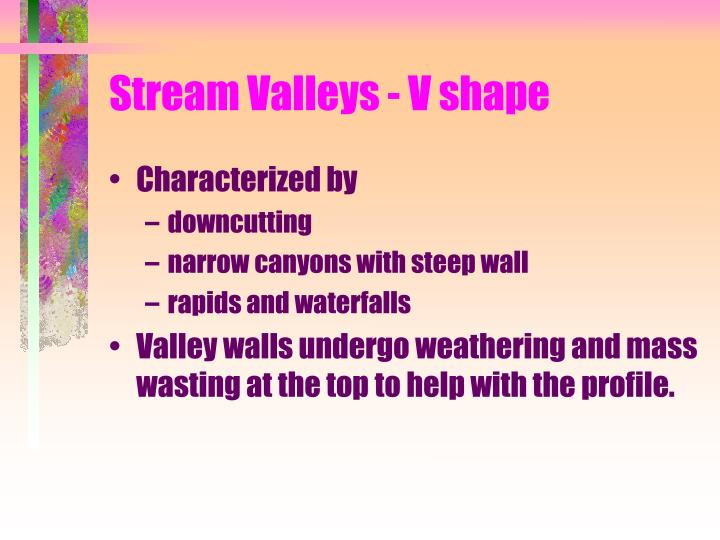 Stream Valleys - V shape