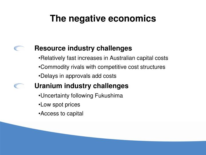 The negative economics