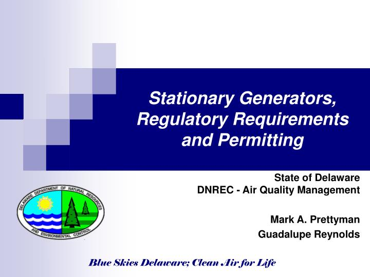 stationary generators regulatory requirements and permitting n.