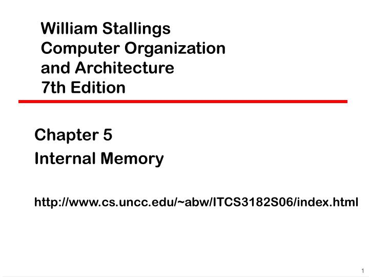 william stallings computer organization and architecture 7 th edition n.
