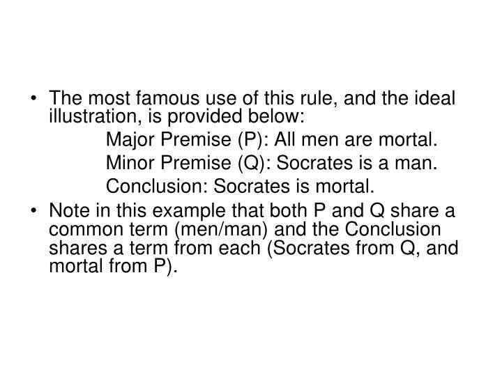 The most famous use of this rule, and the ideal illustration, is provided below: