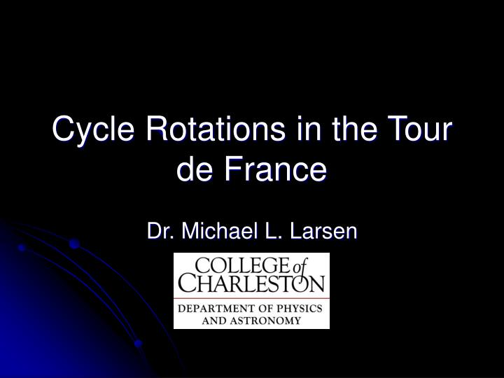 cycle rotations in the tour de france n.