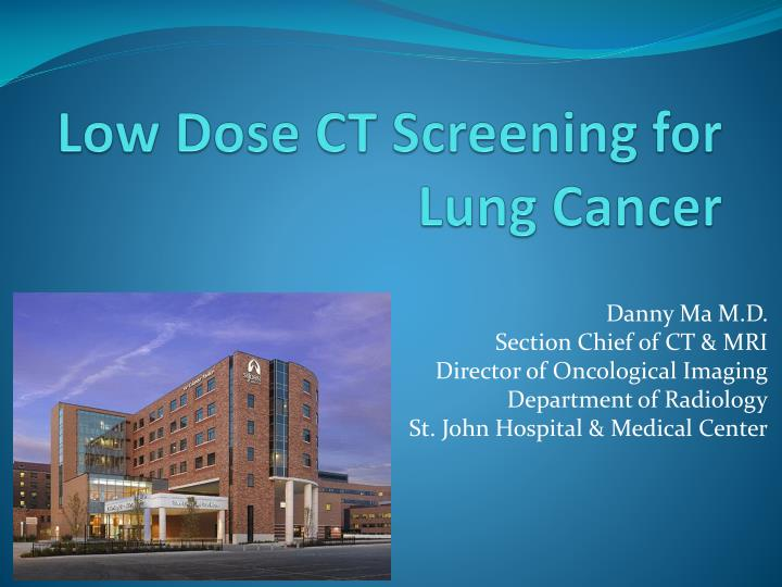 low dose ct screening for lung cancer n.