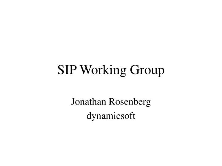 sip working group