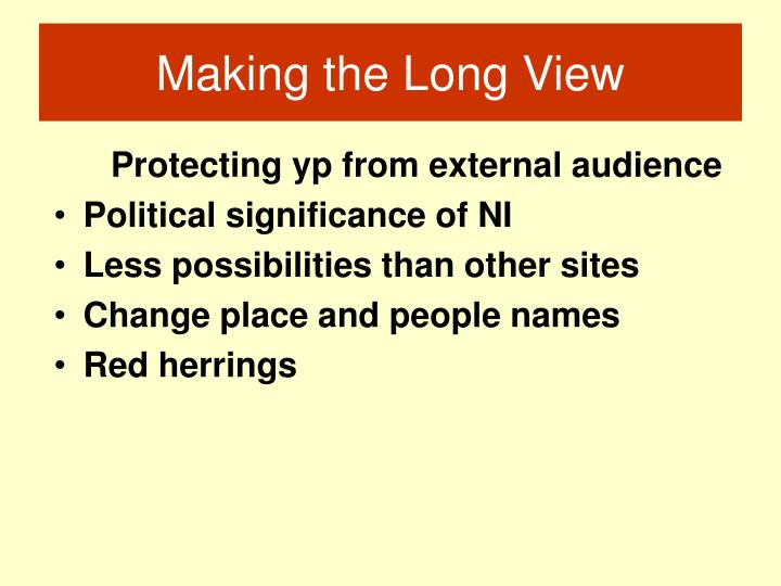 Protecting yp from external audience