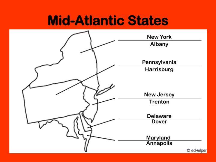 Mid atlantic states