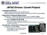 jmt e division current projects