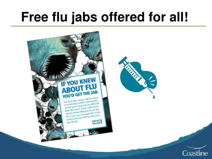 Free flu jabs offered for all!