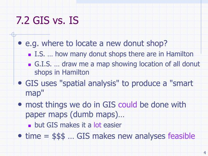 7.2 GIS vs. IS