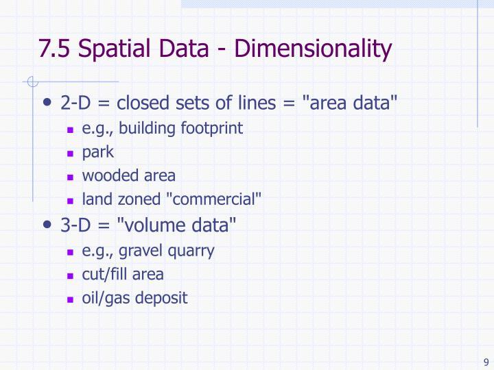 7.5 Spatial Data - Dimensionality