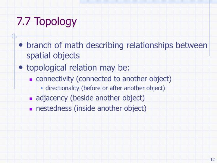 7.7 Topology