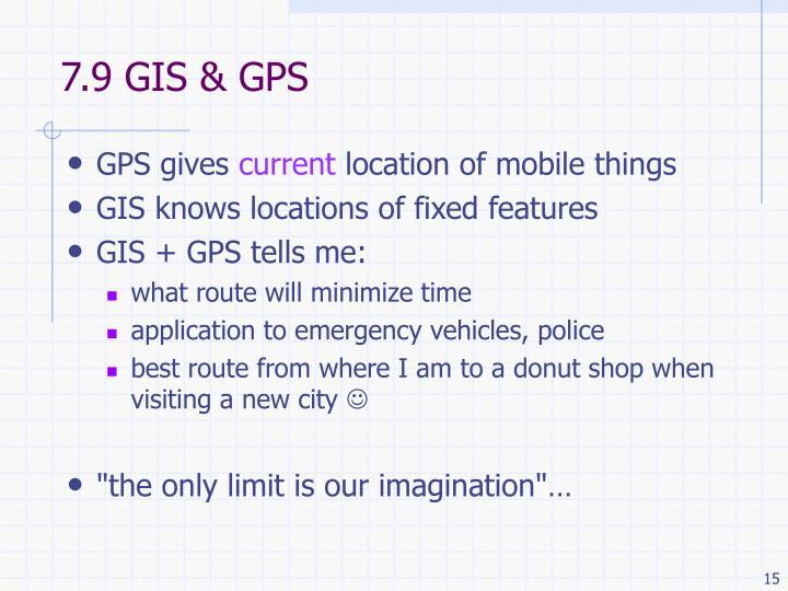 7.9 GIS & GPS
